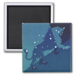 Vintage Zodiac Astrology Leo Lion Constellation Refrigerator Magnet