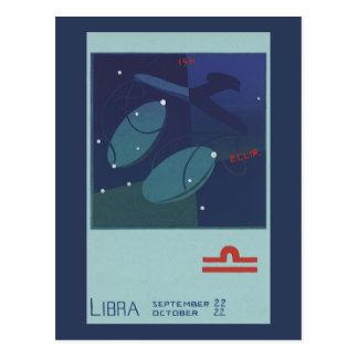 Vintage Zodiac Astrology Libra Scale Constellation Postcard