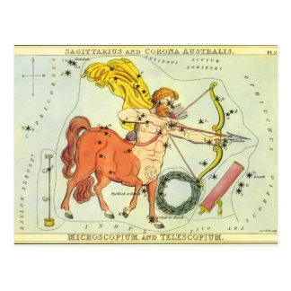 Vintage Zodiac Astrology Sagittarius Constellation Postcard
