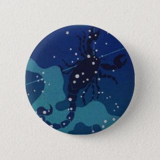Vintage Zodiac Astrology, Scorpio Constellation 6 Cm Round Badge