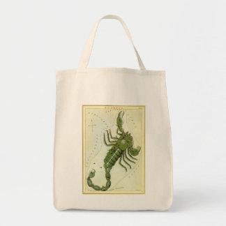 Vintage Zodiac, Astrology Scorpio Constellation Tote Bag