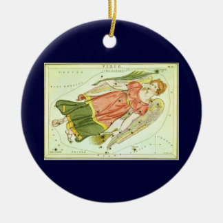 Vintage Zodiac Astrology Virgo Constellation Christmas Ornament