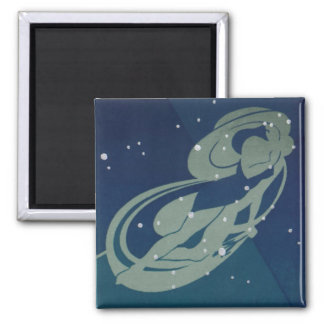 Vintage Zodiac Astrology, Virgo Constellation Magnet