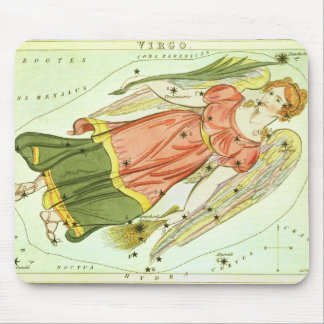 Vintage Zodiac Astrology Virgo Constellation Mouse Mat
