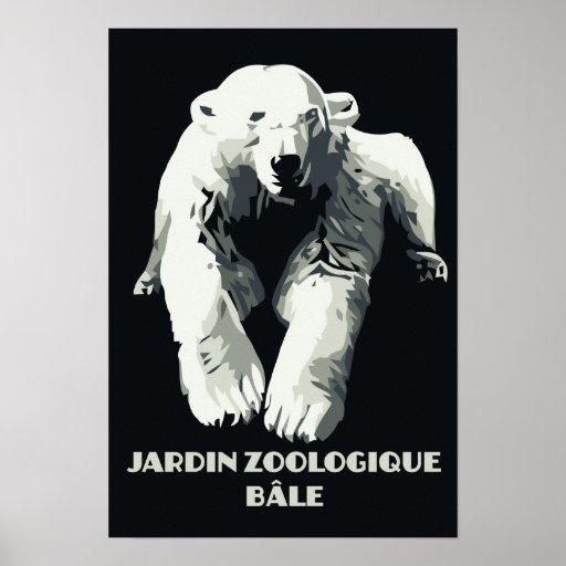 Vintage Zoo ad Basel polar bear Posters