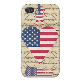 VintageI heart America Case For iPhone 4