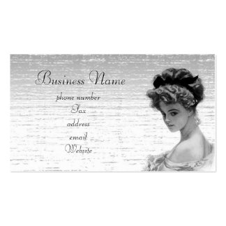 vintagelady pack of standard business cards