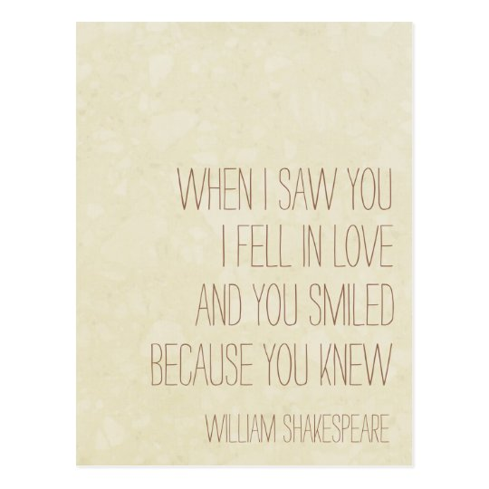 VintageLove - William Shakespeare Quote - Postcard
