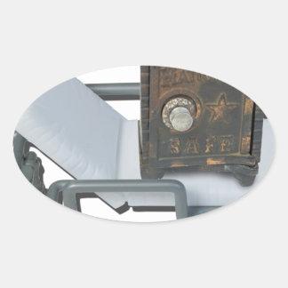 VintageSafeOnGurney092715 Oval Sticker
