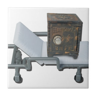 VintageSafeOnGurney092715 Small Square Tile