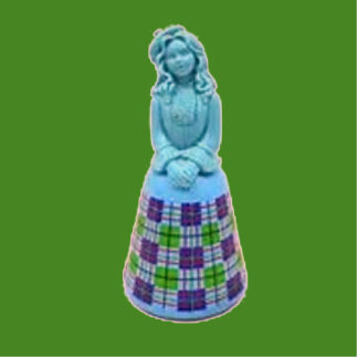 Vintagge Scottish Lass Photo Sculpture Magnet