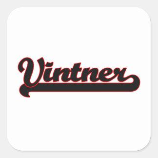 Vintner Classic Job Design Square Sticker