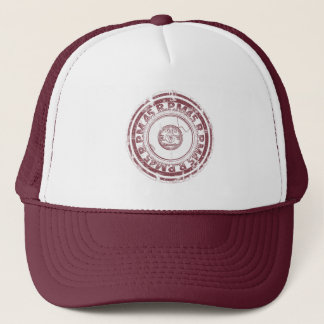 Vinyl - 45 rpm Record -Dark Red Worn Look Trucker Hat