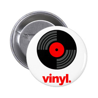 Vinyl Pinback Button