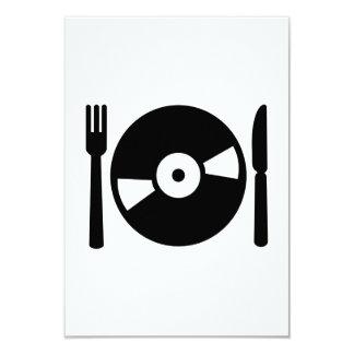 Vinyl DJ menu 9 Cm X 13 Cm Invitation Card