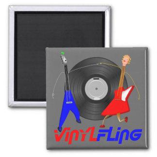 Vinyl Fling Magnet