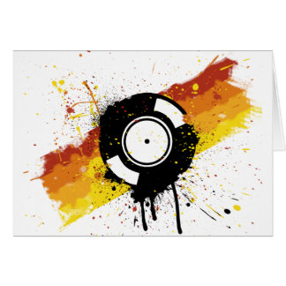 Vinyl Graffiti - DJ record DJing DJs Disc Jockey Card