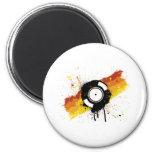 Vinyl Graffiti - DJ record DJing DJs Disc Jockey Refrigerator Magnet