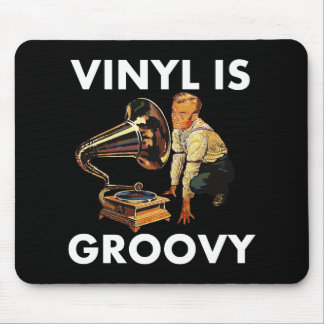 Vinyl Is Groovy Record Collector Humor Funny Pun Mouse Pad