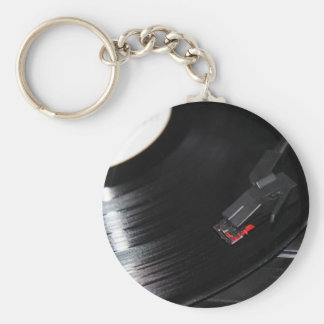 Vinyl is not dead key ring