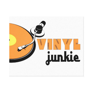 Vinyl Junckie DJ Turntable SL1210 club disc Jockey Gallery Wrapped Canvas