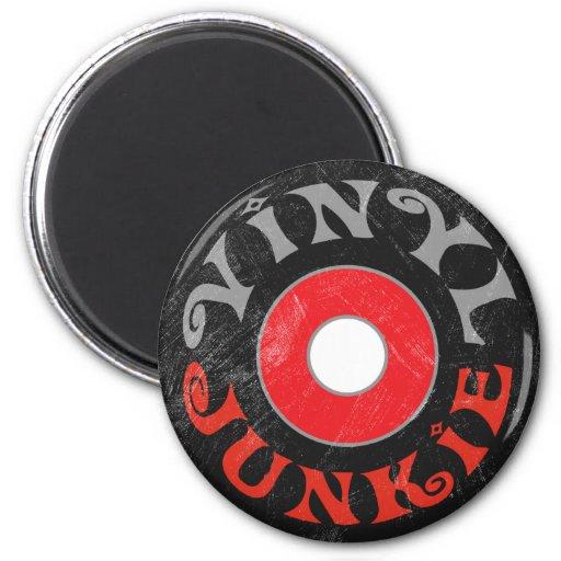 Vinyl Junkie 6 Cm Round Magnet