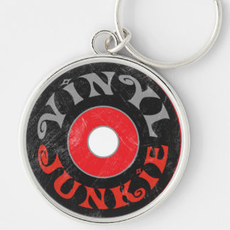Vinyl Junkie Key Ring