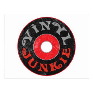 Vinyl Junkie Postcard