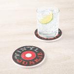 Vinyl Junkie Sandstone Coaster