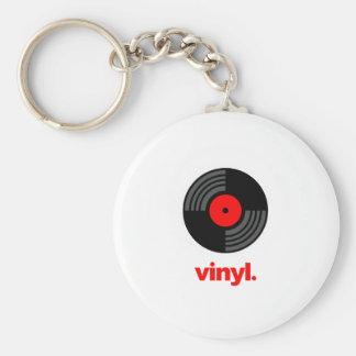 Vinyl Basic Round Button Key Ring