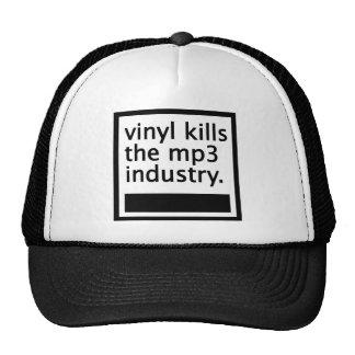 vinyl kills the mp3 industry - vintage cap