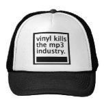 vinyl kills the mp3 industry - vintage hats