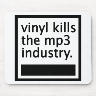 vinyl kills the mp3 industry - vintage mouse pad
