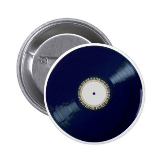 Vinyl Long Player With Keyboard Icon 6 Cm Round Badge