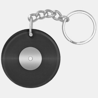 Vinyl-Look LP Record Key Ring