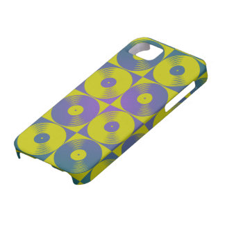 Vinyl music records pop art style iPhone 5 cover