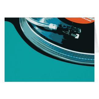Vinyl Music Turntable Card