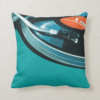 Vinyl Music Turntable Throw Pillow