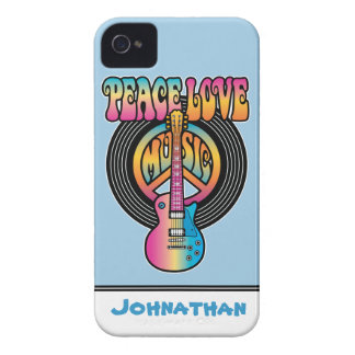 Vinyl Peace Love Music iPhone 4 Cover