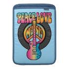 Vinyl Peace Love Music MacBook Sleeve