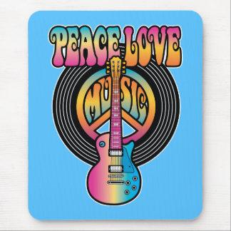 Vinyl Peace Love Music Mousepad