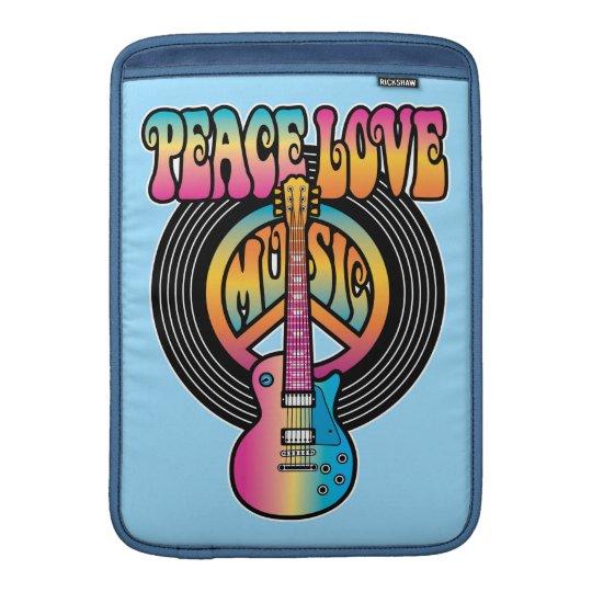 Vinyl Peace Love Music Sleeves For MacBook Air