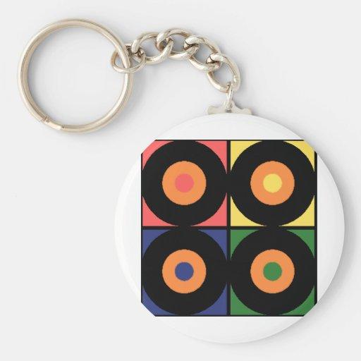 Vinyl Pop Art Key Chains