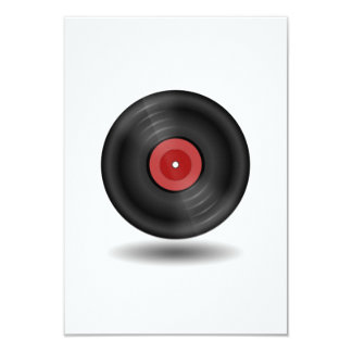Vinyl Record 9 Cm X 13 Cm Invitation Card