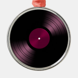 Vinyl Record Album in Pink Christmas Ornament