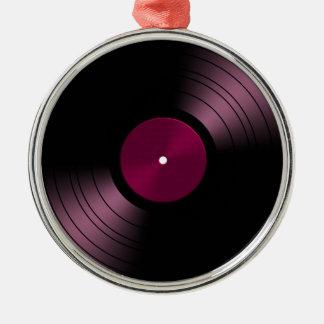 Vinyl Record Album in Pink Christmas Ornament