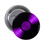 Vinyl Record Album in Purple 60s 70s 80s 6 Cm Round Badge