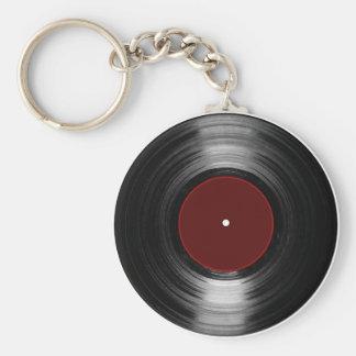 vinyl record basic round button key ring