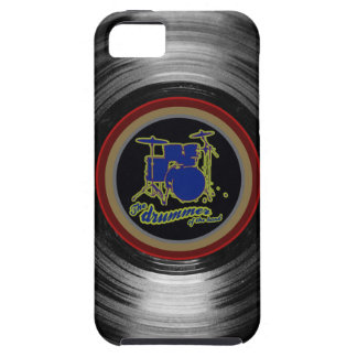 vinyl record ~ blue drums iPhone 5 cover
