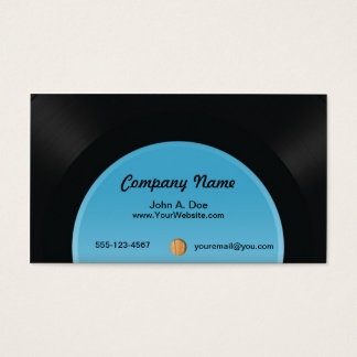Vinyl Record Business Card